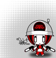 red graff-troop chibi by SektrOne