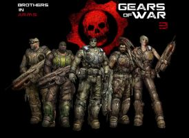 Gears of War contest Entry 2 by AngryPencilStudios