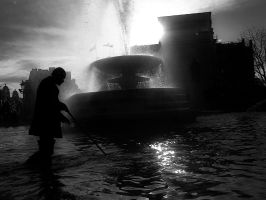 Cleaning The Fountain by InayatShah