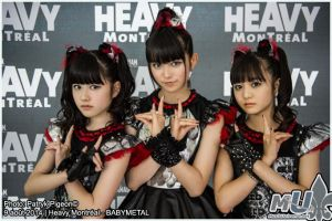 Babymetal at HEAVY MONTREAL 2014 by MrSyn