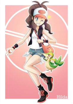 Hilda and Snivy by dmy-gfx