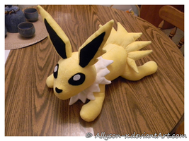 Jolteon Plush - Minky by Allyson-x