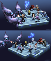 Lowpoly mini Mass Effect scene - hires tex version by Pyroxene