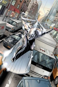 Silver Surfer in NYC by MinkyuJungArt
