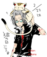 Gokudera Hayato and Uri by mikoru-san
