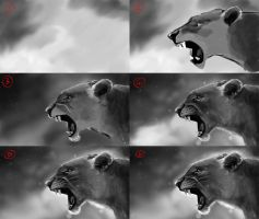 Lioness making-of by Matou31