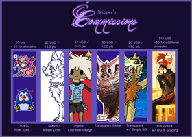 Commission Info  ::CURRENTLY CLOSED:: by meteorcrash