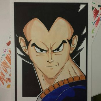 Vegeta colored and finished. by drtidigler