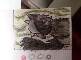 .::ACEO card for Nativethefoxwolf::. by Snowstorm-wolf