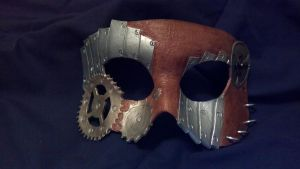 steampunk leather mask by kryie
