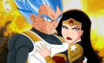 Vegeta and Wonder Woman by SaiyanGoddess