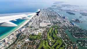 Flying over Miami Beach by LordMajestros