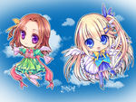 Chibi Angels by CaramelCaprice