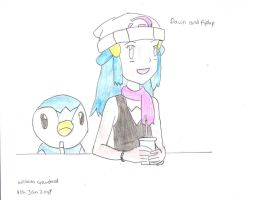 Dawn And Piplup by willvoy