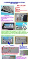 Papercraft Tutorial by koreandrawer