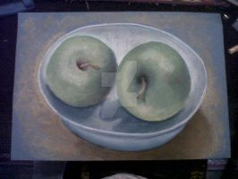 chalk apples by diegolozano322
