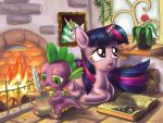 Spike and Twilight by alexmakovsky