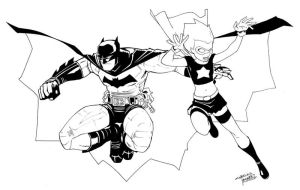 Batman and Hawt Girl by KidNotorious