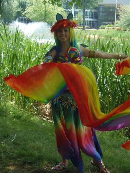 AnimeNext 2015 Bellydancer Rainbow Dash2 Sunday by inugrl6