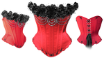 Roses and Pearls Corset by crissycatt