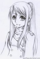 sketch: Winry Rockbell by pacifique