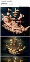 Peter Pan Pirate Ship by sculptor101