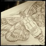 Deaths-Head Hawk Moth Design by candygrl191