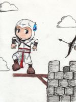 Chibi Altair- Perching by lyphesis