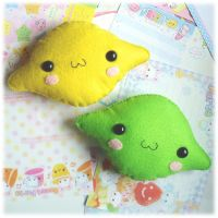 Lemon and Lime Plushie Set by Keito-San
