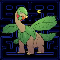 Tropius (Pac-Man Edition) by the-b3ing