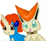Keldeo and Victini by TailTehEeveelution