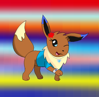My new Eevee form by SkyBlueArts