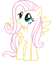 Fluttershy (Neon) by Anto2620