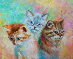 Kittens by gerbrandt