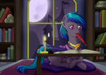 Commission - Late Night Writing by MoonSango