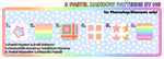 6 Pastel Rainbow Patterns by HG by Crystal-Moore