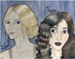 Pippa and Felicity by Euryte