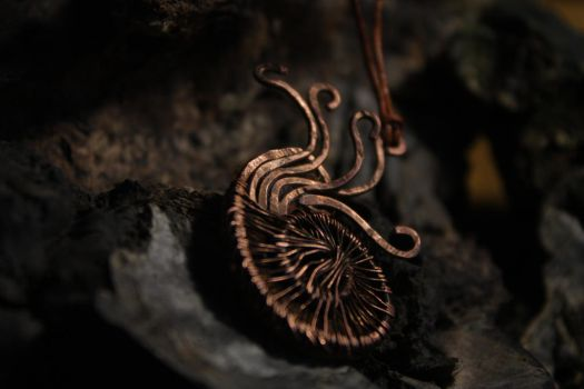 Ammonite - wire wrapped pendant by Altawista