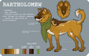 Bartholomew - reference sheet by jamzenn