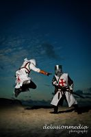 Altair and Templar by kimberlystudio