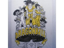 T-shirt of dragon ball by Brujamelon