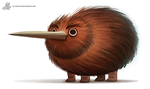 Daily Painting #889. Kiwigriff by Cryptid-Creations