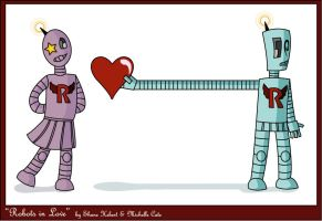Robots in Love by glimmerfish