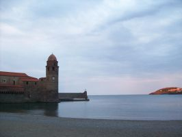 Collioure Sunset by La-V