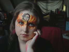 Katniss, The girl on fire by Blueberrystarbubbles