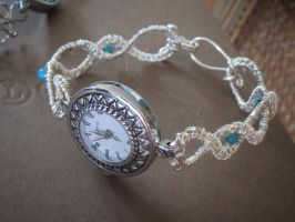 Silver Wirewrapped Watch by whippetgirl