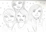 Hayley, Jenna, Tay and Chrissy by Animecolourful