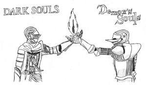 Demon's Souls and Dark Souls by Necrosissleep