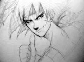 Today's doodle: Bardock by FryFridaY