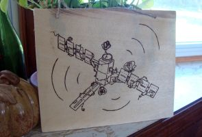 Satellite Roses Pyrography [Gift SadieTheTiger] by apriclty